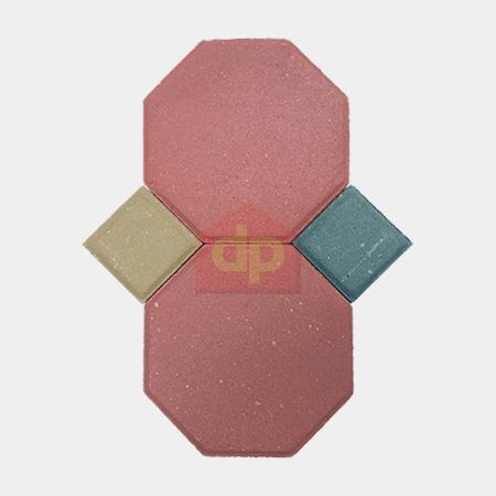 Gạch Block tự chèn bát giác đỏ chất lượng tại Đại Phương