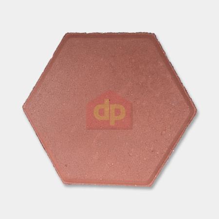 Gạch Block tự chèn lục giác màu đỏ chất lượng tại Đại Phương