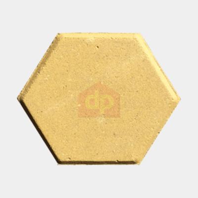 Gạch Block tự chèn lục giác màu vàng giá rẻ tại Đại Phương