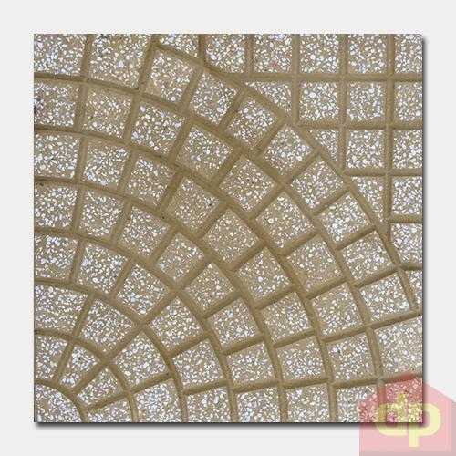 Gạch lát Terrazzo 400x400mm DP-40-124 màu vàng giá rẻ tại Gạch Đại Phương