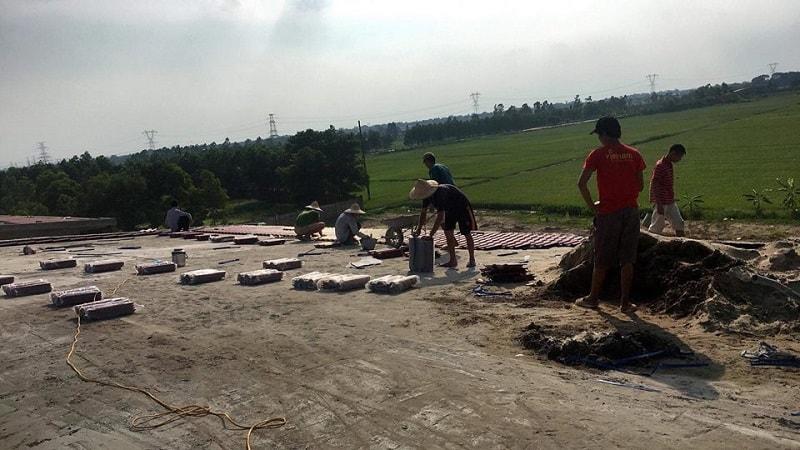 Đại Phương thi công ngói màu tại trường Tiểu học Văn Môn - Yên Phong - Bắc Ninh diện tích 3000m2