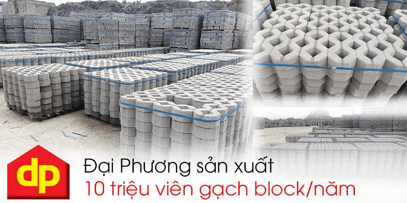 Mỗi năm Đại Phương sản xuất 10 triệu viên gạch block tự chèn tiêu chuẩn TCVN 6477:1999
