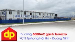 Đại Phương thi công 6000m2 gạch Terrazzo KCN TexHong Hải Hà Quảng Ninh