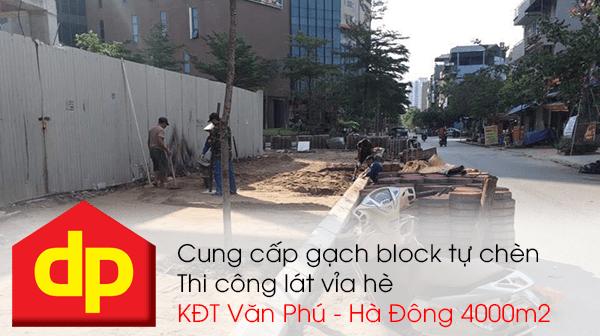 Đại Phương thi công lát vỉa hè khu đô thị Văn Phú - Hà Đông