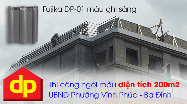 Đại Phương thi công ngói màu UBND phường Vĩnh Phúc - Ba Đình - Hà Nội với diện tích 200m2