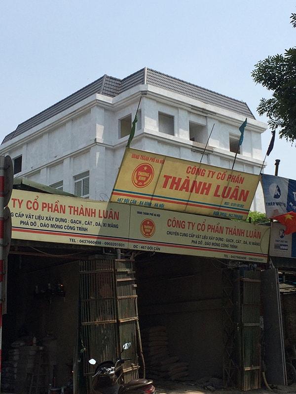 Công trình thi công ngói màu UBND phường Vĩnh Phúc - Ba Đình - Hà Nội nhanh chóng được Đại Phương hoàn thành. Ảnh chụp mái ngói từ xa