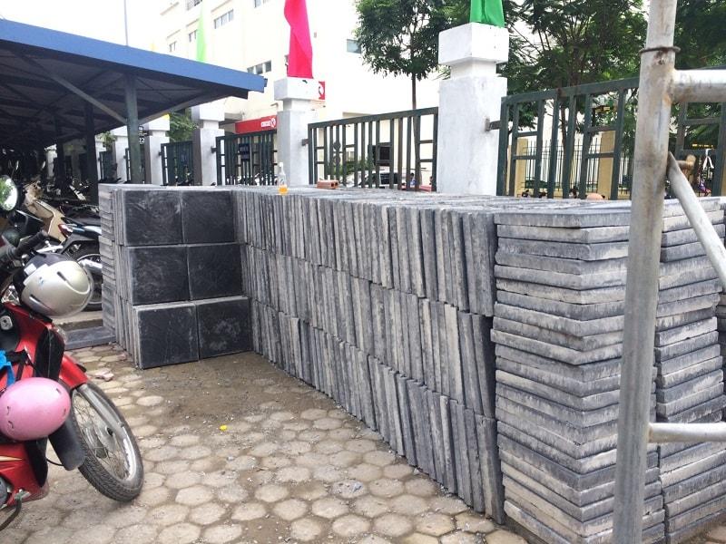 Gạch Coric chất lượng được Đại Phương vận chuyển đến trường tiểu học Nghĩa Đô