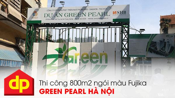 Đại Phương thi công 800m2 ngói màu tại Green Pearl 378 Minh Khai Hà Nội