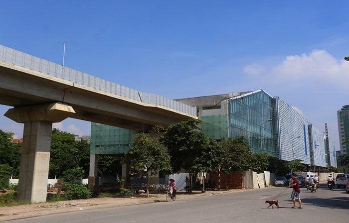 Trung tâm điều hành tàu cao tốc trên cao Cát Linh - Hà Đông tại đường Hào Nam - Hà Nội