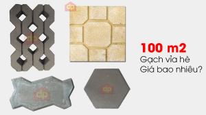 Một trăm m2 gạch lát vỉa hè giá bao nhiêu tiền?