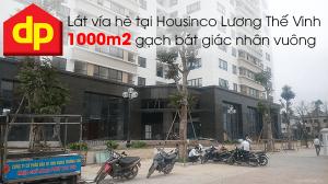 Đại Phương thi công lát vỉa hè 1000m2 gạch bát giác nhân vuông tại Housinco Lương Thế Vinh - Hà Nội