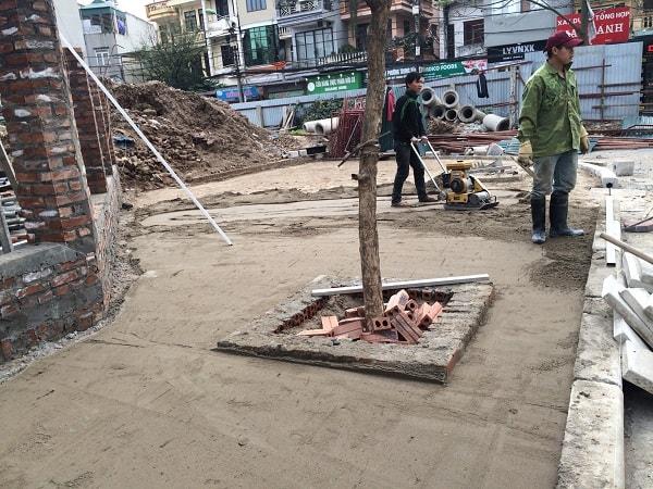 Hình ảnh công trình Đại Phương thi công gạch bát giác nhân vuông tại Housinco Lương Thế Vinh