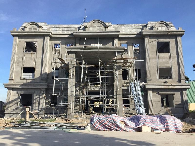 Văn phòng công ty Nhựa Minh An mới đang trong quá trình xây dựng