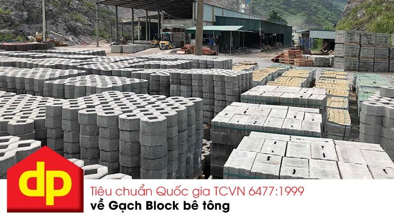 Gạch block bê tông Đại Phương đạt tiêu chuẩn Quốc gia TCVN 6477:1999